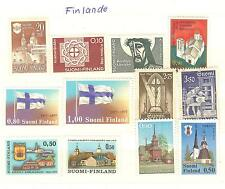 LOT FINLANDE TIMBRES NEUFS ** THEME RELIGION EGLISE CROIX ECT...COE € 18,50