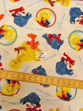 "SESAME STREET WORKSHOP BY QUILTING TREASURES 100% COTTON FABRIC 45"" WIDTH FH-832"
