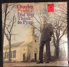 Charley Charlie Pride Did You Think To Pray 1971 RCA vinyl LP Country Gospel
