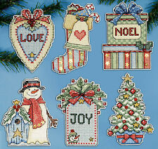 Cross Stitch Kit ~ Design Works Set of 6 Country Christmas Ornaments PC #DW1683