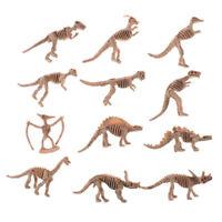 12X Various Plastic Dinosaurs Fossil Skeleton Dino Figures Kids Toy Gift Nice lf