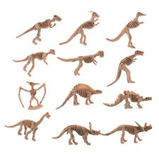 12X Various Plastic Dinosaurs Fossil Skeleton Dino Figures Kids Toy Gift NiceLD