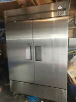 True Commecial T-49F Reach-In 2-Section 2-Door 6-Shelf Stainless Freezer!