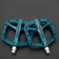 Mountain Bike Pedals Nylon Bearing MTB Bicycle Pedals Wide Flat Platform Blue