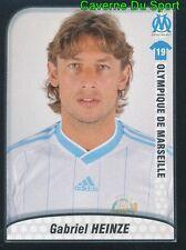 244 GABRIEL HEINZE ARGENTINA OLYMPIQUE MARSEILLE OM PSG STICKER FOOT 2010 PANINI