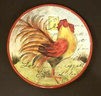 CERTIFIED INTERNATIONAL ROOSTER SALAD PLATE BY SUSAN WINGET