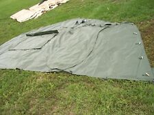 ONE MILITARY SURPLUS 16 x16 FRAME TENT DOOR SECTION  ARMY ..NO FRAMES INCLUDED..