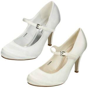 Ladies Anne Michelle High Heel Wedding Court Shoes