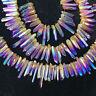 AB colours titanium rainbow aura lemurian quartz crystal point 50g 8-12pcs HH208