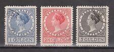 NVPH Nederland Netherlands 163 164 165 used 1926 Wilhelmina Pays Bas