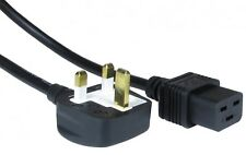 Uk Mains Lead  to IEC C19 -13 Amp Moulded Plug Power Cord 16 Amp Rated Cable