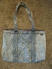 Vintage 80's Shane Stone Washed Denim Jean Purse Tote Hand Shoulder Bag