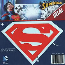 "DC Superman ""S"" Shield Logo Emblem Red Car Window Sticker Decal  5 1/2"""