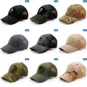 NEW Mesh Back Baseball Cap Operators Hat Airsoft Camo Camouflage Cap good