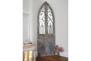 Large Rustic Door Mirror Freestanding Antique Arched Door Mirror 3377