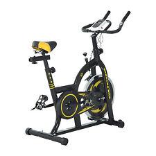 HOMCOM Vélo d'Appartement Cardio Vélo Biking Capteur Pulsations Ecran LCD Acier