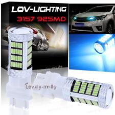 Ice Blue 92SMD 4014 LED Daytime Running Light DRL Bulbs 3156 3157 3757 4114 4157
