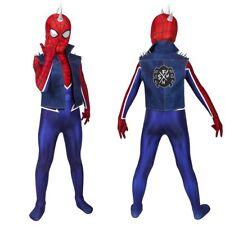 Spider-Punk Costume Cosplay Suit Kids Hobart Brown Spider-Man PS4 3D Printed
