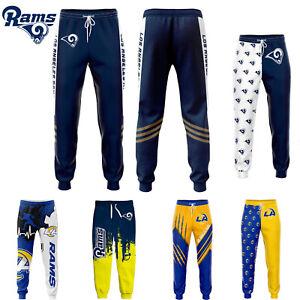 Los Angeles Rams Men Sweatpants Jogging Training Pants Sports Trousers All Size