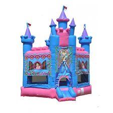 Inflatable Bounce House Castle Pretty Princess, Premium Vinyl Backyard Toy