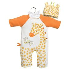 "Infant Girls Romper Sleep and Play Set ""Giraffe"" 0-3 months by Baby Dumpling"
