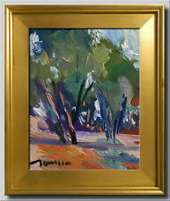 JOSE TRUJILLO FRAMED Original Oil Painting POST IMPRESSIONIST ABSTRACT SIGNED