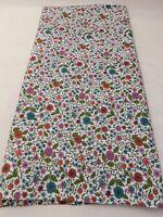 Vintage 35W Cotton Fabric Feedsack-Era Red Green Purple Flowers Mums Quilt 1 yd