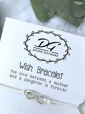Wish Bracelet Mother Daughter Card Jewellery Gift Mother of the Bride J08