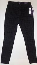 NEW NYDJ Not Your Daughters Jeans Super Skinny Houndstooth Flocking Size 2 $140