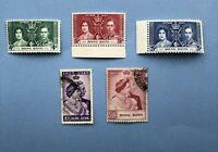 HONG KONG $10 1923-1948 Stamp Plus Coronation Set 1937
