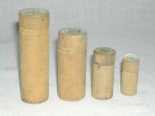 4 Vintage Pflueger Wood Fishing Hook Containers Lure Bait Reels