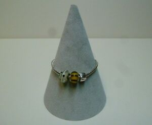 Jewellery Display Bracelet / Bangle Cone in grey x 3