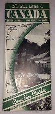 =Vintage 1940 Canada Road Map Travel Fold Out Columbia Icefield Highway