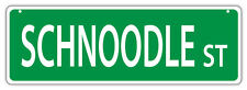Plastic Street Signs: Schnoodle Street (Schnauzer Poodle) | Dogs, Gifts