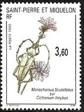 SAINT PIERRE ET MIQUELON N°575** INSECTE SUR FLEUR TB, 1993 SPM MNH