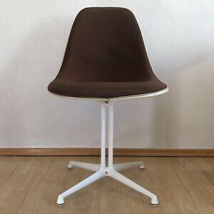 Eames Side Chair, Herman Miller, Fiberglas, Polster, La Fonda, Braun