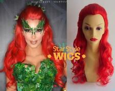 DELUXE POISON IVY KIM KARDASHIAN LONG RED CURLY COSTUME WIG