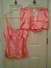 Chanteuse Intimates Cami Shorts Sleep Set Peach White Polka Dot Size Large NWOT