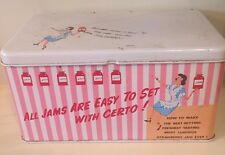 CERTO Vintage Tin Box Jam Jelly Pink Collectible Rare Retro Mid Century