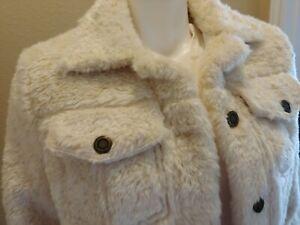 NWOT - VICTORIA'S SECRET Fashion Show 2018 White Cream Fur Coat - Size LARGE