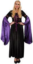 Burgfräulein Kostüm schwarz Damen Burgdame Mittelalter Kleid Karneval Fasching