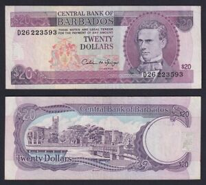 Barbados 20 dollars 1973 (88) BB/VF  B-02