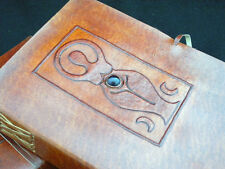 Mother Goddess AMETHYST Journal Pagan Wicca A5 Handmade Leather Book-of-Shadows