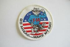 """F-14 TOMCAT """"GO AHEAD...MAKE MY DAY"""" EMBROIDERY PATCH--005"""