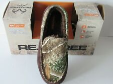 Realtree Xtra Camouflage Indoor/Outdoor Insulated Moc Slippers Mens size M
