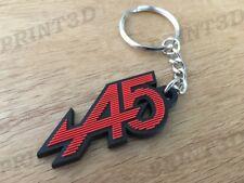 Porte clés / Keychain PVC souple Renault 5 Alpine A5 capot calandre rouge/noir