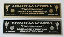 Lyoto Machida UFC nameplate for signed mma gloves photo or case