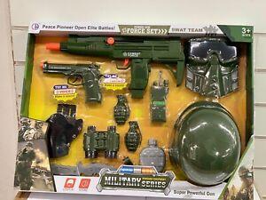 Toy Gun Plastic Police Army Machine Gun Set Kid Children War Game Toys Uk seller