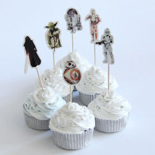 12 x Star Wars  Cake Picks Cupcake Toppers Flags Kids Birthday Party
