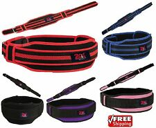 2Fit Weight Lifting Gym Training Belt Double Support Brace Lumbar Pain Relief
